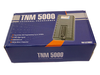 TNM5000 Programmer is very fast , Low cost , High performance Universal Programmer , specially designed for supporting Flash memories , Nand flashes , Serial EEPROMS , Microcontrollers & Automotive ECU , Dashboard parts.